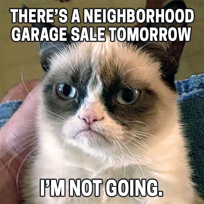 Calendar of City-Wide and Neighborhood Garage Sales