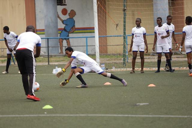 Assisat Oshoala's Football4Girls Kicks-off at Campus Mini Stadium – Over 200 Girls in Training