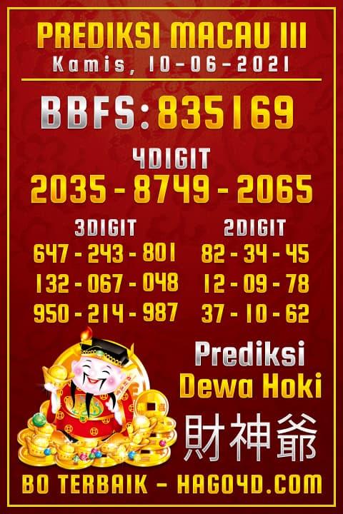 Dewa Hoki - Bocoran Togel Toto Macau P3