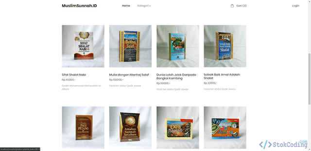 Aplikasi Toko Buku Online Muslim (PHP)