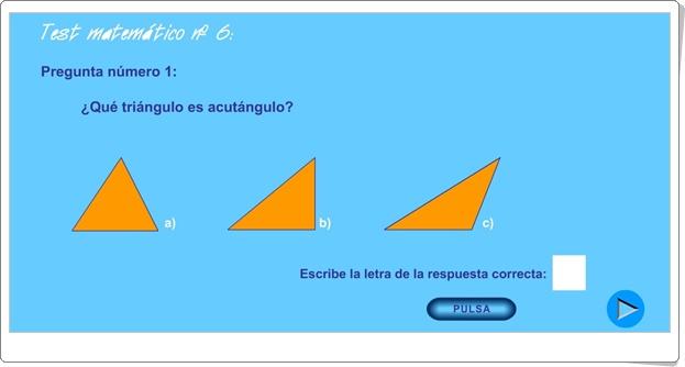 """Usa el coco: """"Test matemático Nº 6"""" (Triángulos, cuadriláteros, circunferencia y círculo)"""