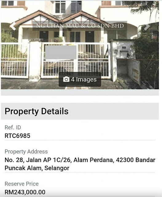 Rumah teres 2 tingkat di Pucak Alam RM243 ribu
