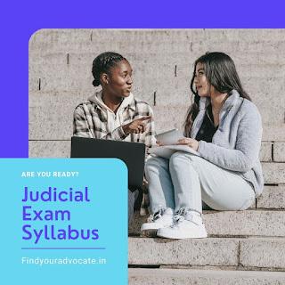 Judicial Exam Syllabus | FindYourAdvocate