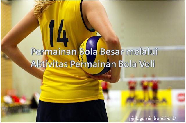 Aktivitas Permainan Bola Besar melalui Aktivitas Permainan Bola Voli