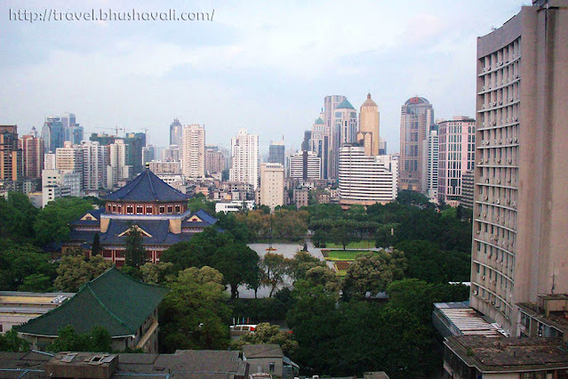 View of Sun Yat Sen Memorial Hall from Guangdong Hotel in Guangzhou