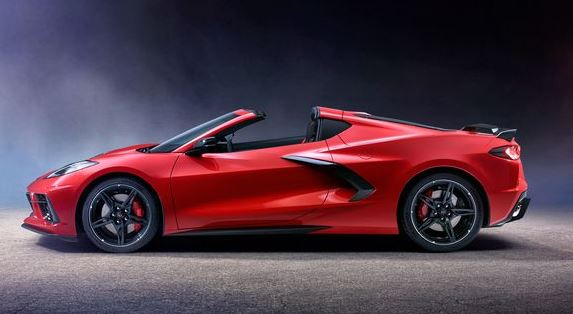 2020 Chevrolet Corvette C8 side view