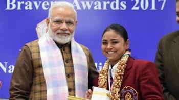 18 बहादुर बच्चे सम्मानित, गांव के बच्चों के कायल हुए PM मोदी