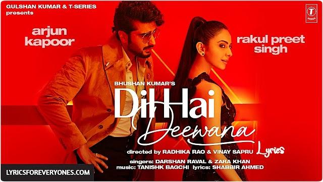 Dil Hai Deewana Lyrics