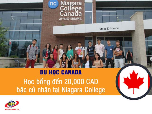 Du học Canada: Học bổng cử nhân đến 20,000 CAD tại Niagara College