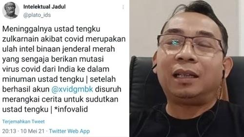 Tengku Zul Wafat Disebut Ulah Jenderal, Eko Kuntadhi: Gerombolan Ini Gak Punya Adab