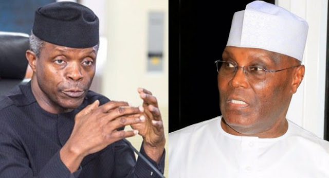 Image result for Atiku not sincere on restructuring, says Osinbajo