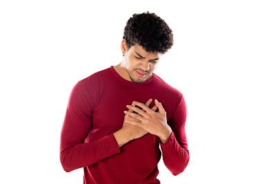 Hombre con taquicardia