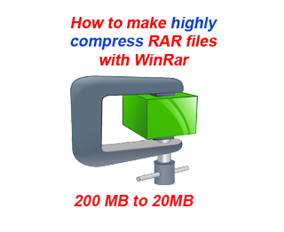 Highly compress files using WinRar