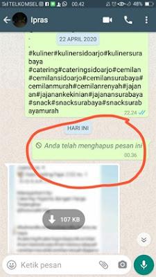 Pesan whatsapp telah terhapus