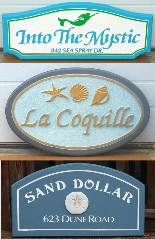 Coastal and Beach Theme House Name Signs