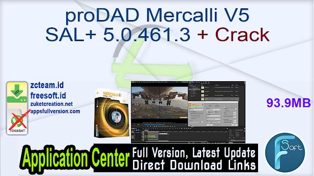 proDAD Mercalli V5 SAL+ 5.0.461.3 + Crack_ ZcTeam.id