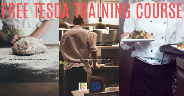 FBS NC III, BPP NC II & Cookery NC II | Free TESDA Training Courses