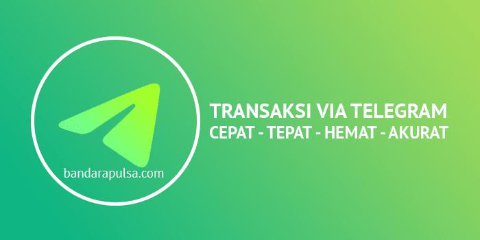 cara transaksi jualan pulsa via telegram