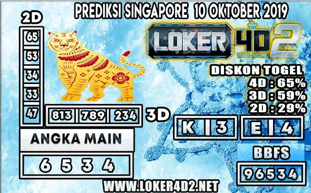 PREDIKSI TOGEL SINGAPORE LOKER4D2 10 OKTOBER 2019