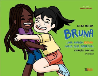 Capa divulgação do livro Bruna uma amiga Down mais que especial