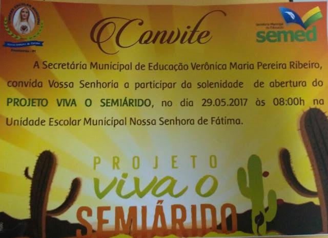 FRONTEIRAS - CONVITE PROJETO VIVA SEMIÁRIDO
