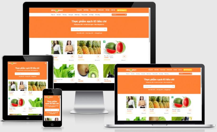 Theme blogspot bán thực phẩm, mini mart VSM33 - Ảnh 1