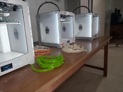 أقنعة واقية تونسية مصنوعة بتقنية الطباعة ثلاثيّة الأبعاد 3D