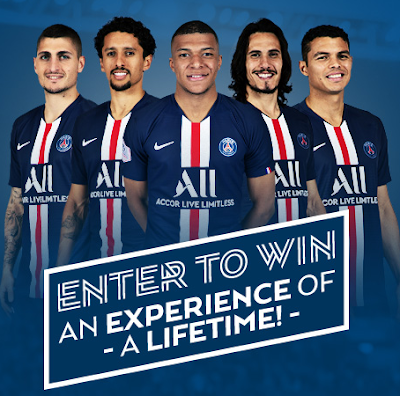 Enter daily to win a trip to Paris, France to see Paris Saint Germaine's home team play a soccer match! There are runner up prizes, too!