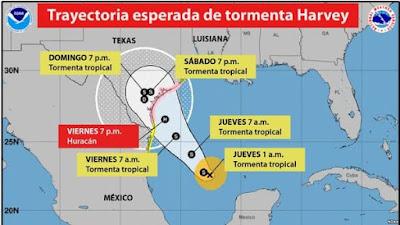"""HURACAN """"HARVEY"""" ALCANZA LA CATEGORIA 3 Y TEXAS SE PREPARA PARA LA PEOR CATASTROFE"""