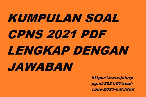 Soal Cpns 2021 Pdf Jalurppg Id