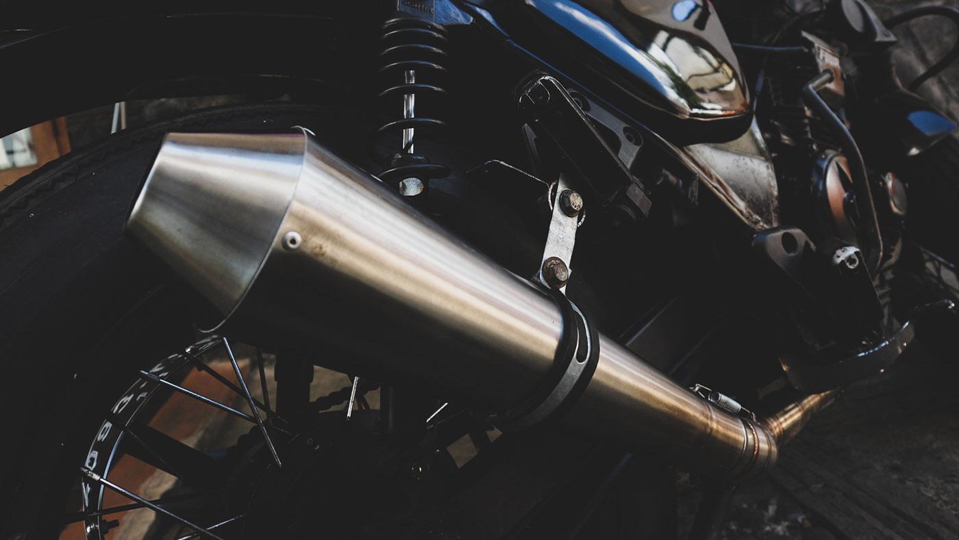 Knalpot Cafe Racer Yamaha Scorpio