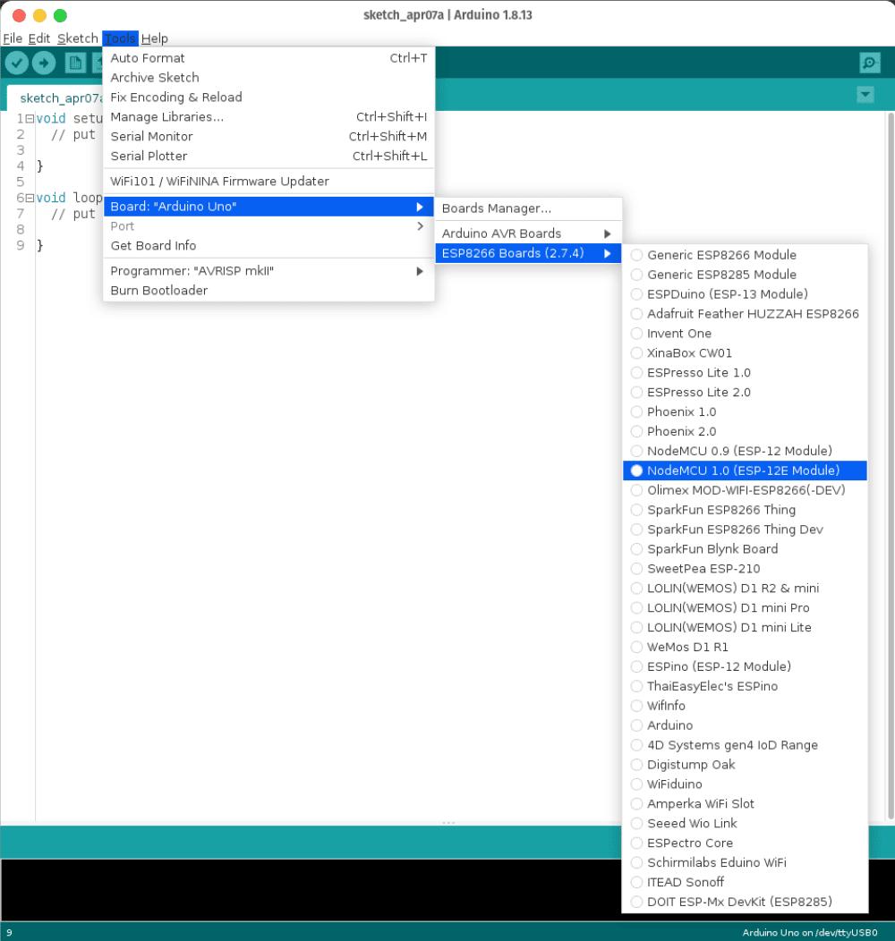 Basic Progam Blink NodeMCU v3 esp8266 arduino iot esp