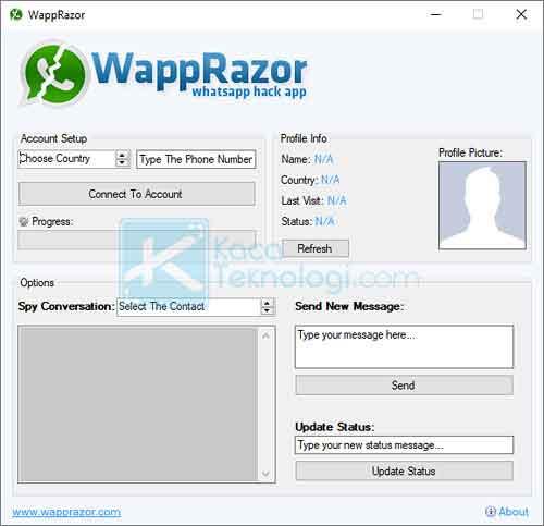 WappRazor merupakan aplikasi buatan HackSpyWapp yang hadir dan dikembangkan sebagai salah satu aplikasi dengan tujuan untuk memata-matai akun aplikasi berbagi pesan WhatsApp.