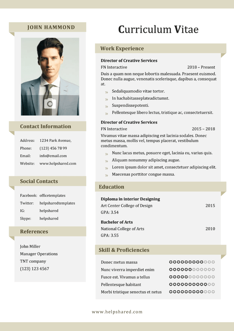 banner day cv resume template
