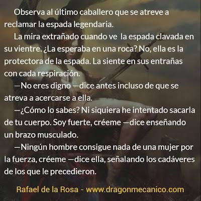 espada legendaria - microrrelatos de fantasia - microcuentos - Cuentos Mecanicos - Rafael de la Rosa