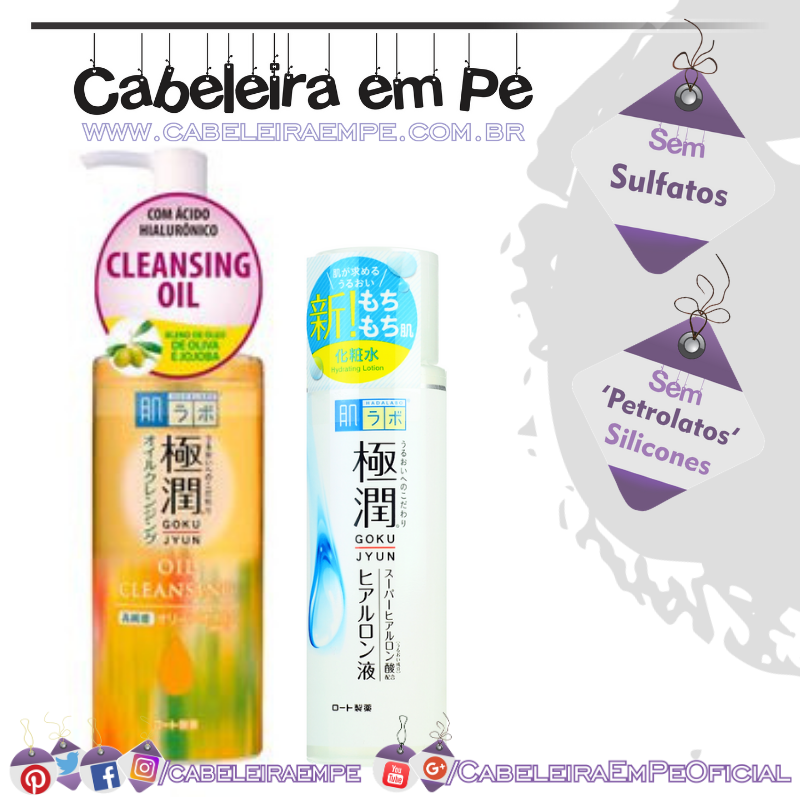 Gokujyun Lotion e Cleansing Oil - Hada Labo
