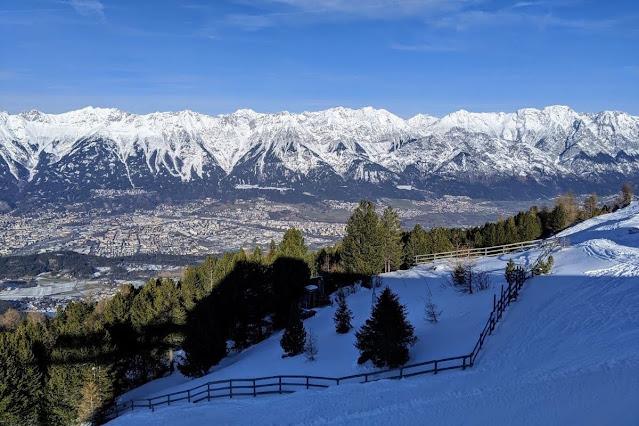 View from Patscherkofel near Innsbruck, Austria