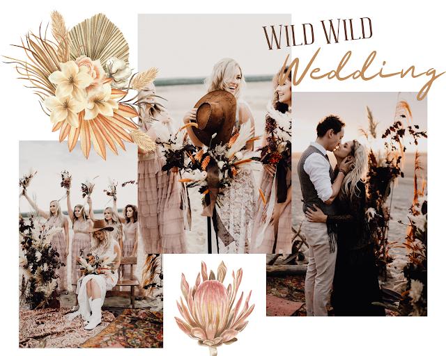 sesja stylizowana, ślub boho, boho dekoracje, boho wesele, ślub plenerowy, trawy pampasowe, druhny, para młoda, yesido_photography, dywany, wild wild wedding, dziki zachód