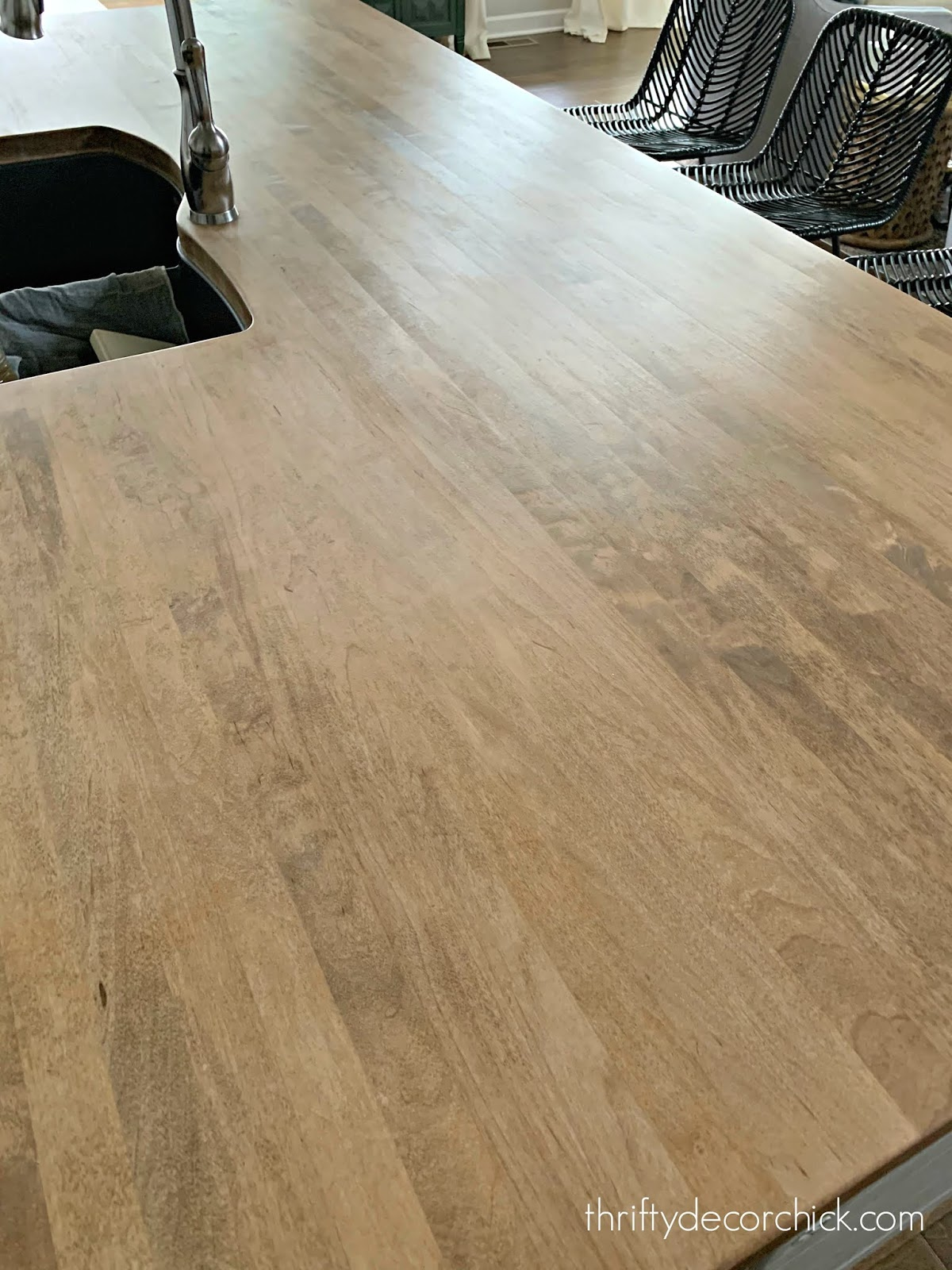 how to care for butcher block counters