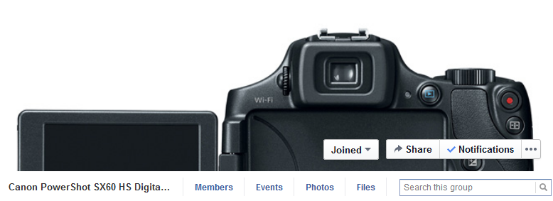 Join the new Canon PowerShot SX60 HS Camera Facebook Group