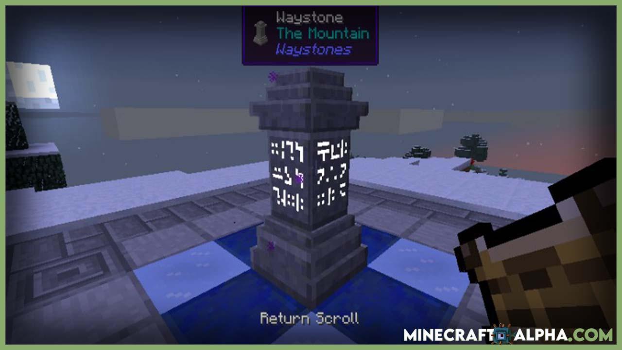 Minecraft Waystones Mod 1.17.1(Waystone Blocks)