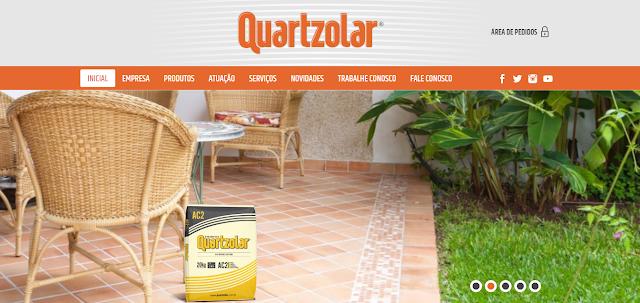 Acesse o site da Quartzolar, conheça os produtos e simuladores de cores e consumo