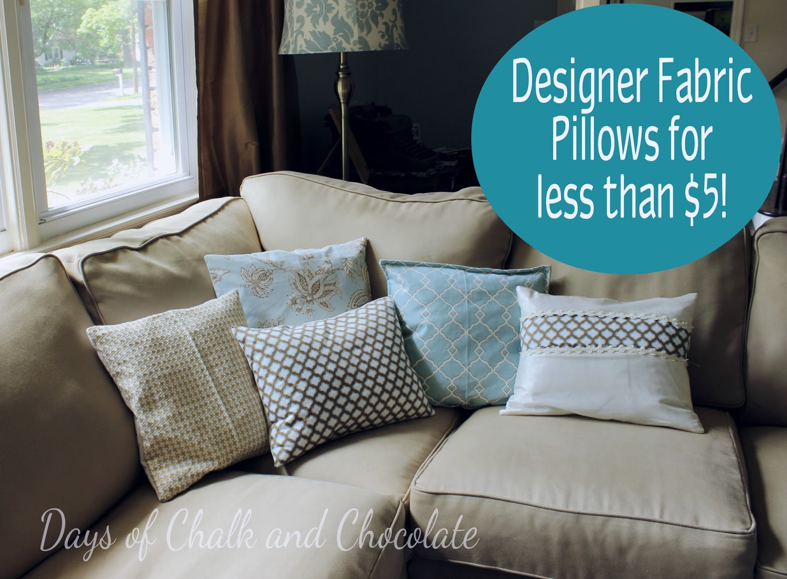How I Get Designer Fabric Pillows For $5 Or Less