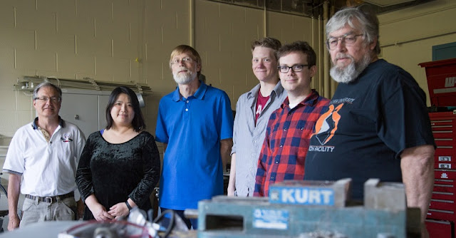 John Vanderwerp, Chen-Yu Liu, Gerard Visser, Frank Gonzalez, Nathan Callahan and Walt Fox, from left, were among those who contributed to the study. Chris Meyer, IU Communications