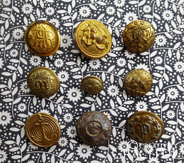 Vintage Military Buttons 53