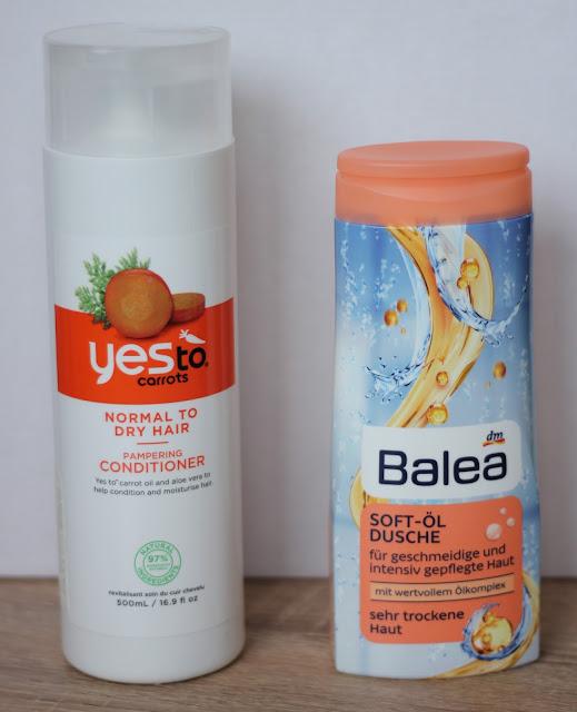 Yes to Carrots en Balea Douche Olie