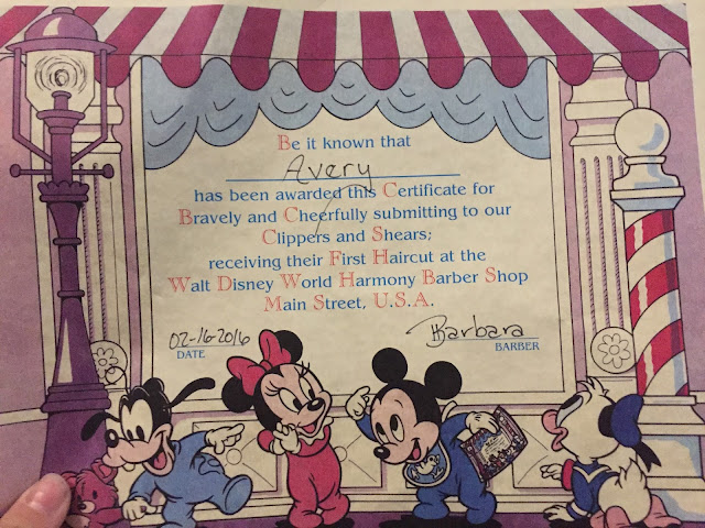 Why your Baby's First Haircut should be at Walt Disney's Harmony Barber Shop