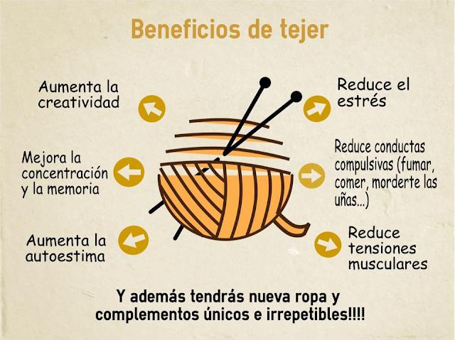 Beneficios de tejer #KnittingPartyWAK #tallercrochet #crochetparaniños #PequeñaFashionista #weAreKnitters