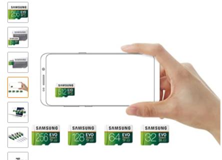 Samsung Electronics EVO Select 256GB MicroSDXC UHS-I U3