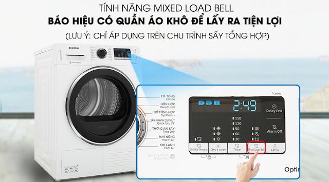 Máy sấy quần áo LG DV90M5200QW/SV